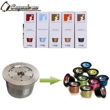 Capsules réutilisables, adaptées à la Machine à café, italie, capsules, wacaco minipresso, fabricant de CA rechargeable, filtre