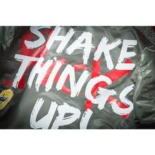 Aolamegs Bomber Jacket Men Graffiti Print Thin MA-1 Men's Jacket Hip Hop Fashion Outwear Autumn Men Coat Bomb Baseball Jackets