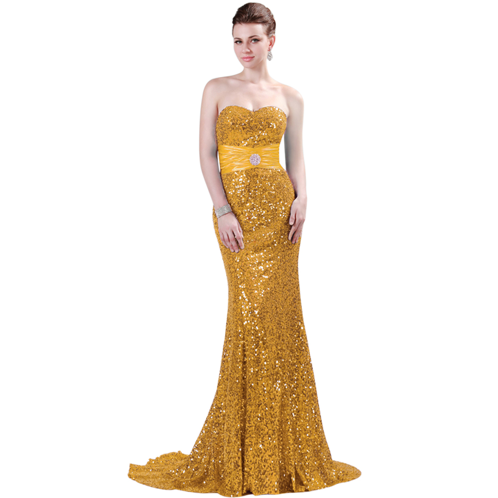 Buy 2017 gold sequins bridesmaid dresses for Gold sequin wedding dress