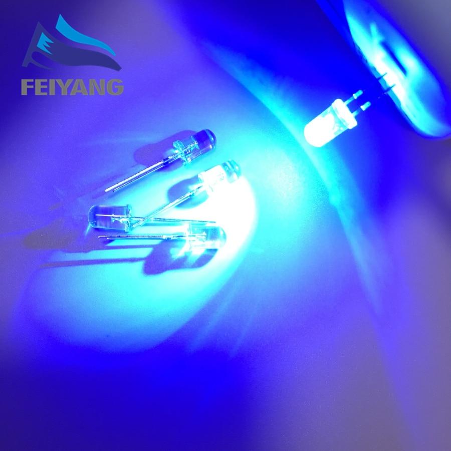100PCS 5mm LED Diodes Flashing Blue Clear Blinking Light Emitting Diodes Flash Blink 5mm Blinking LED Diodo 5 Mm Danshan B