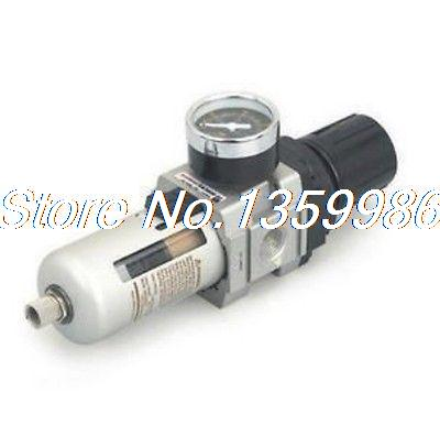 Pneumatic Air Filter/Regulator 3/8 BSPT 2000L/min Gauge epman universal 3 aluminium air filter turbo intake intercooler piping cold pipe ep af1022 af