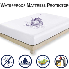 Bed Cover Brushed Fabric Quilted Mattress Protector Waterproof Topper for Anti-mite copri rete D30