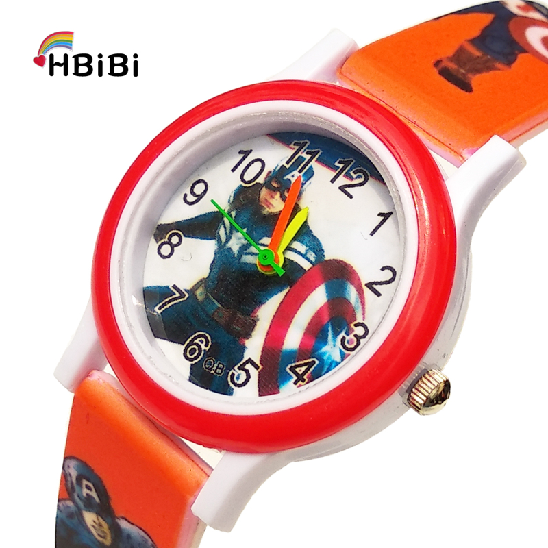 Printed Strap Kids Watches Children America Super Hero Captain Life Waterproof Quartz Child Watch For Boys Girls Christmas Gifts