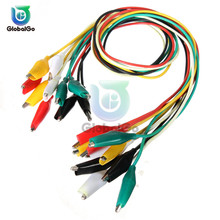 10pcs/Lot Alligator Clips Electrical DIY Test Leads Alligator Double-ended Crocodile Clips Clip Test Jumper Wire Connector стоимость