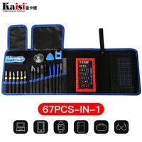 Kaisi 67 in 1 Multi function Tools Repair Mobile Phones bag for IPad iPhone X 8G 7 6s Repair tool kit