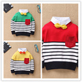 Children Sweaters European And American Style Autumn Long Sleeve Boys Clothes Striped Baby Boys Coat Casual Boys Sweaters Coat