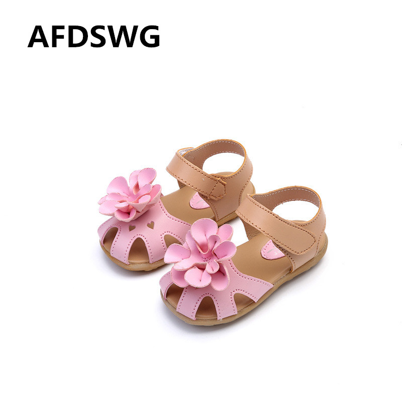 AFDSWG spring and autumn fashion white flowers PVC pink boys beach shoes female sandals shoes kids beach shoes