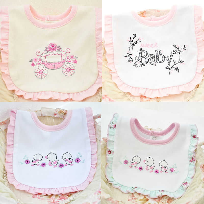 Baby Unisex Cotton Bibs Waterproof Lovely Cute Cartoon Burp Cloth 2017 New Babys Bid Saliva Towel Baby Boy Girl Bebes Bibs Scarf