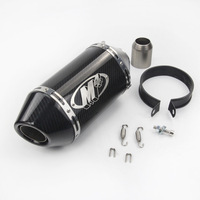 motorcycle muffler pipe carbon fiber exhaust 51mm escape moto de 250cc 500cc 600cc 750cc 800cc MT09/07 M4 Z750/800 R6