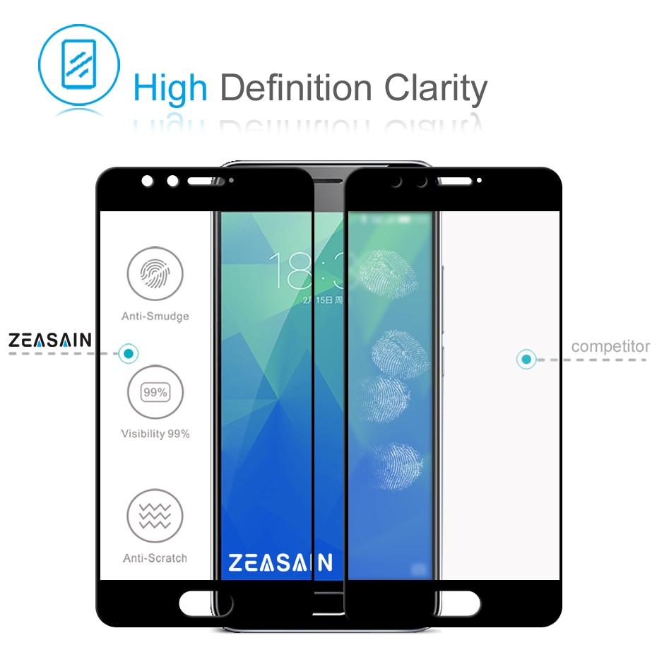 Asli ZEASAIN Penuh Penutup Kaca Tempered untuk Meizu M5S M5 S Meilan - Aksesori dan suku cadang ponsel - Foto 3
