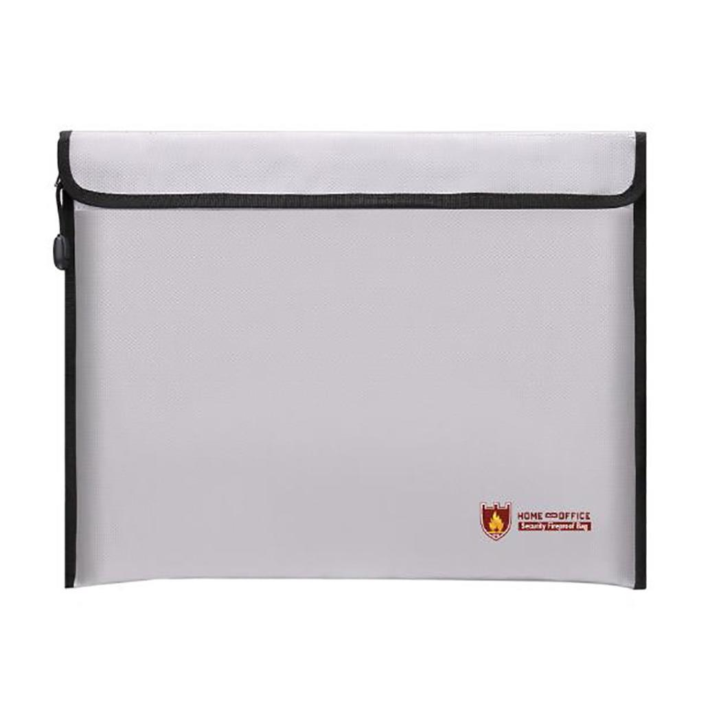 Fireproof File Folder Water Resistant Document Bag Stationery Versatile Office Lightweight And Portable Supplies