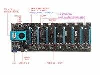 KUANGCHENG BTC IC6S добыча материнская плата 8 Графика карты слота PCI Express 8 16x для ETH Шахтер и т. д. ZEC шахтер материнская плата