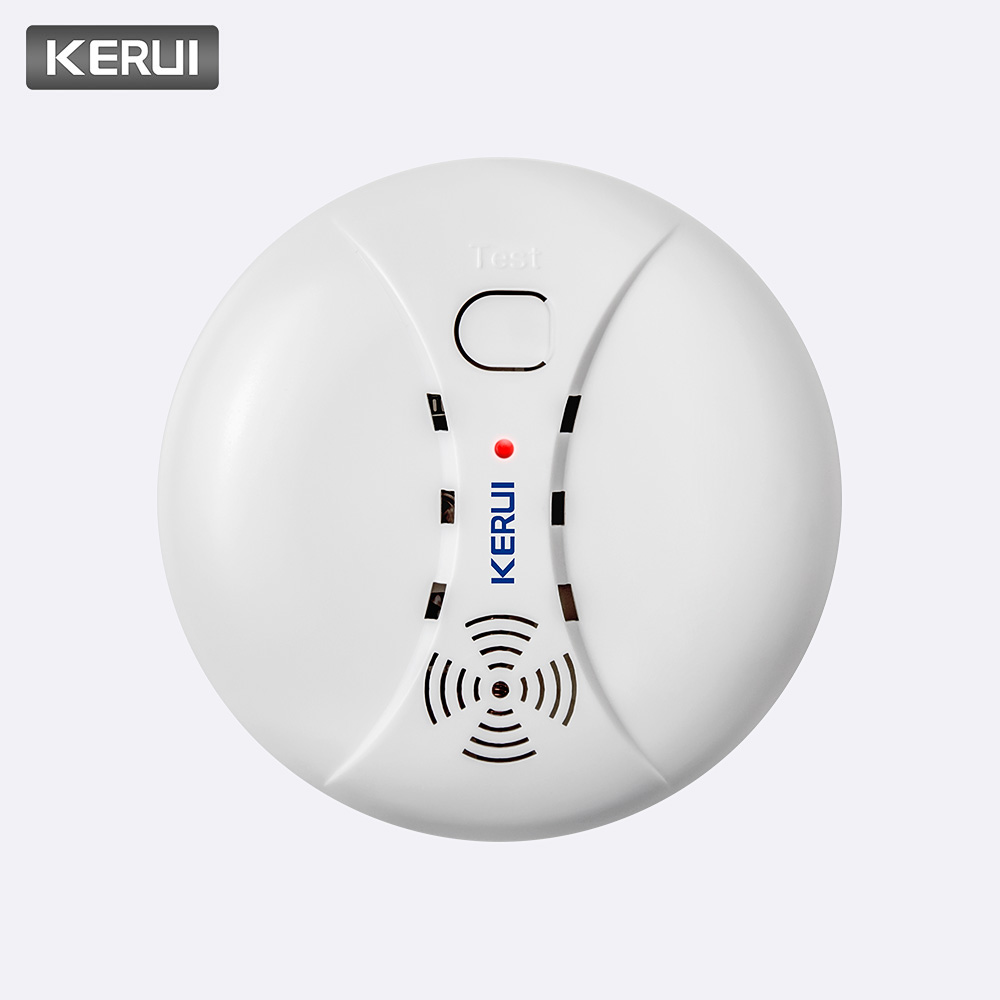 KERUI 433MHz Wireless Smoke Fire Detectors Alarm For Wifi GSM PSTN Home Security Anti-theft Alarm System Rookmelder Sensors Kits