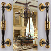 280mm Deluxe Fashion Modern Big Gate Door Handles Gold Wooden Door Pull Black Home KTV Office