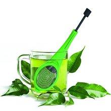 Tea Infuser Built-in plunger Healthy Intense Flavor Reusable Tea bag Plastic Tea&Coffee Strainer Measure Swirl Steep Stir&Press