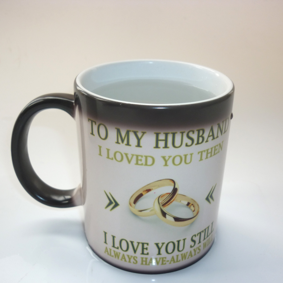 Best Gift For My Wife Part - 22: To My Wife / Husband Mug Magic Color Changing Coffee Mug Wedding  Anniversary Gifts, Best Gift For Your Wife Or Husband-in Mugs From Home U0026  Garden On ...