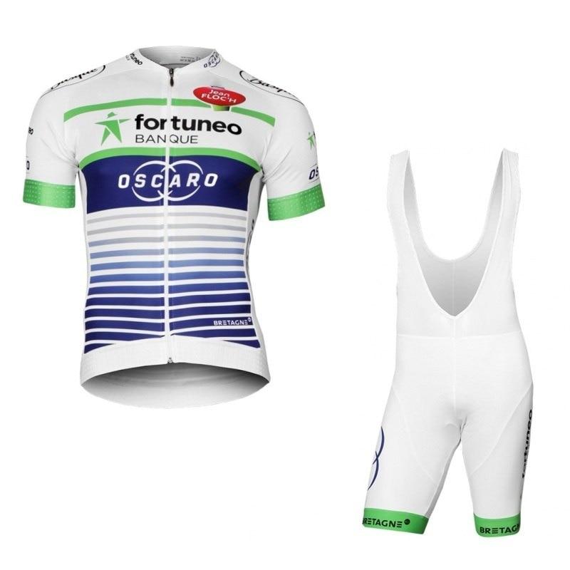2017-es fehér profi csapat fortuneo oscaro kerékpáros mezkészlet - Kerékpározás