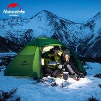 Naturehike 3 4 человек ветрозащитный палатка Водонепроницаемый нейлон двойные слои открытый Природа Спорт Путешествия Пеший Туризм палатки
