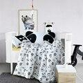 Batman padrão 3 pcs 100% roupa de cama de algodão conjunto de cama dos desenhos animados para o bebê/crianças/crianças capa de edredon + lençol + fronha