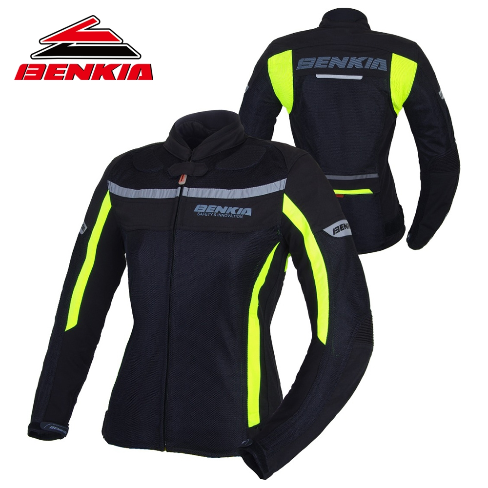 BENKIA Motorcycle Jacket Motocross Racing Suits Denim Jacket For Women Breathable Mesh Riding Clothes Jaqueta Motoqueiro
