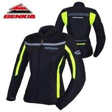 Benkia мотоциклетная куртка мотокроссу Костюмы джинсовая куртка для Для женщин Обувь с дышащей сеткой для верховой езды одежда jaqueta motoqueiro JW-W32