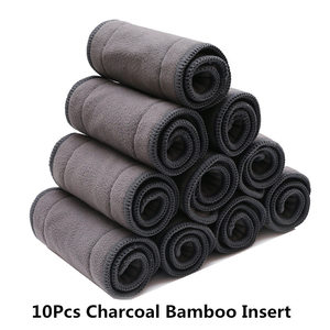 Image 2 - [Mumsbest]BUY 10 GET 10 FREE Microfibe Inserts Reusable Nappies Super Absorbency  Gray Charcoal Bamboo Insert Soft Nappies Liner
