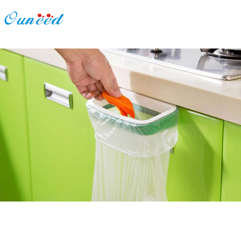 Ouneed Bag Hanging Kitchen Cupboard Door Back Style Stand Trash Garbage Bags Storage Holder Rack