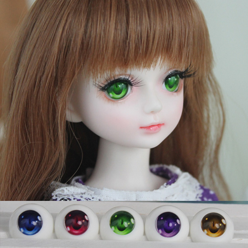 Acrylic Doll Eyes SD BJD Cat Toy Eyes BJD SD DD 2D 1/3 1/4 1/6 14mm 16mm 18mm 20mm Baby Born Dolls Accessories Cartoon Eyeball handsome grey woolen coat belt for bjd 1 3 sd10 sd13 sd17 uncle ssdf sd luts dod dz as doll clothes cmb107