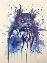 HOT SALE 21 X 15 CM Blue OWL Sexy Cool Beauty Tattoo Waterproof Hot Temporary Tattoo Stickers