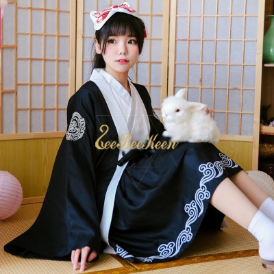 20c745a529c Anime Cosplay Costume Japanese warrior Women Red Dress Japanese Kimono For  Halloween Christmas New Year Party suit For Adult