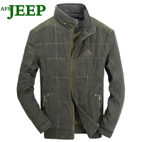 AFS JEEP 2017 New Fashion High Quality Lattice Spring Autumn Cotton Man Charm Men Jacket Personality