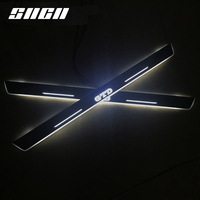 SNCN Trim Pedal LED Car Light Door Sill Scuff Plate Pathway Dynamic Streamer Welcome Lamp For VW Volkswagen Golf 7 GTD 2014 16