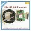 O ENVIO GRATUITO de 1 conjunto de SMS SIM908 módulo Quad-Band GSM GPRS GPS Com Antena Cabo Cap com SLOT SIM