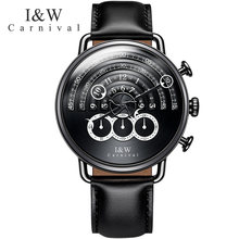 CARNIVAL IW horloges mannen Military Sports Top Creative Quartz stop clock Chronograph personality Watches Men Sapphire relogio(China)