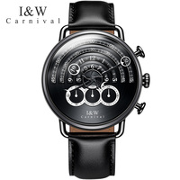 CARNIVAL IW horloges mannen Military Sports Top Creative Quartz stop clock Chronograph personality Watches Men Sapphire relogio