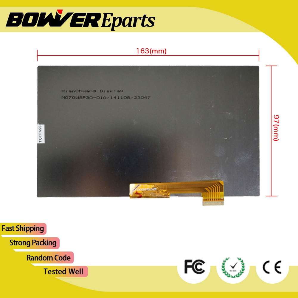 ^ A+ 30PIN 163X97mm LCD Display Matrix For 7 Oysters T72HM 3G TABLET inner LCD Display 1024x600 Screen Panel Frame new lcd display matrix for 7 nexttab a3300 3g tablet inner lcd display 1024x600 screen panel frame free shipping