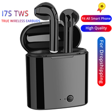 I7s TWS Bluetooth Wireless Earphone Stereo Earbud Headset With Charging Box Mic All Bluetooth tablet For iPhone Xiaomi Samsung mini ip8 tws bluetooth earphone true wireless earbud stereo music headset hands free with charging box for samsung iphone single
