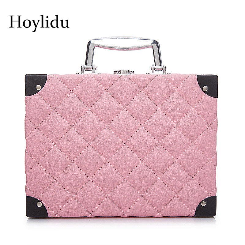 PU Leather Cosmetic Bag Makeup Box Women Beauty Toiletry Case Fashion Large Capacity Women's Make Up Box With Built-in Mirror цена 2017