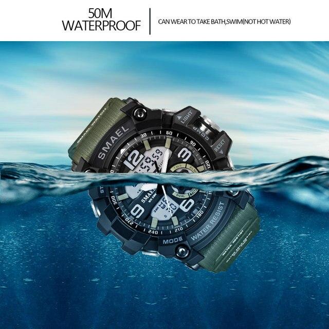 SMAEL Brand Men Sport Watch LED Digital Waterproof Casual Shock Male Clocks Relogios Masculino Men's Gift Military Wrist Watches 5