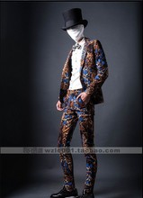 Free shipping ! Influx of men Suits serpentine fashion flower singer Slim tide stage costumes / S-XXL
