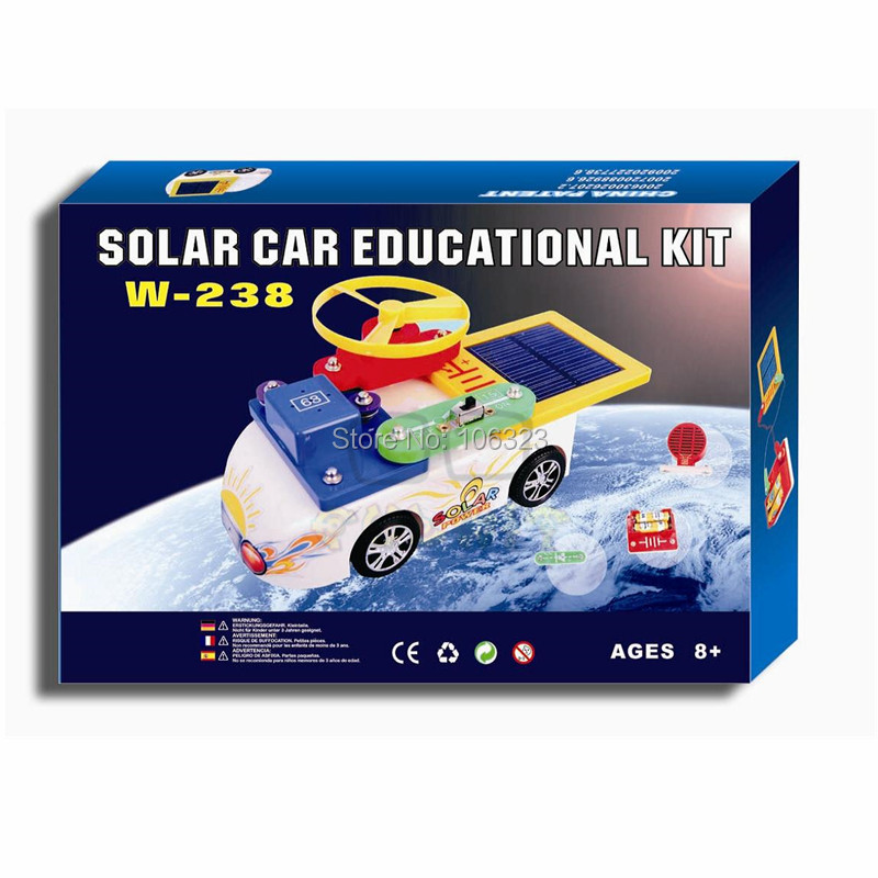 Solar Powered Electric Motor Kit: W 238, New Creative Solar Car Educational Kit, Child Toy