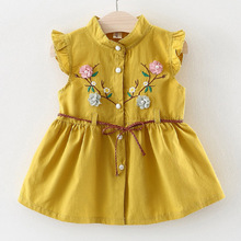 Melario Baby Dresses 2019 New Summer Newborn Flowers Cheongsam Girl Party Dress Fashion Party Baby Birthday Tutu princess Dress