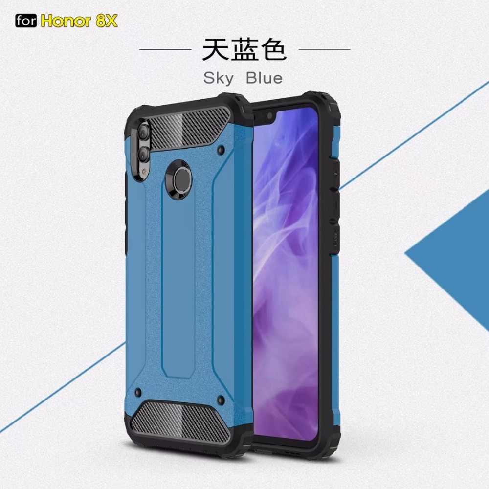 1 pz 2 in 1 Staccabile Antiurto Heavy Duty Duro Goccia di resistenza Robusta Armatura Caso Capa Per Huawei Honor 8X casi intelligenti