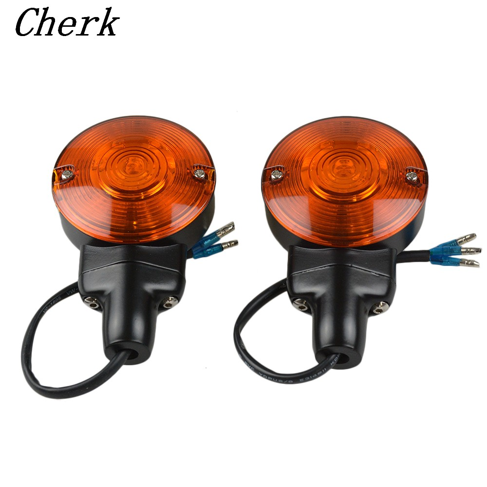 Motorcycle Metal Black LED Yellow Front Flat 3 Wires Turn Signal Light For Harley Touring Electra Tour Glides FLSTC Heritage spun blade spinning axle caps chrome harley motorcycle sportster 08 13 road glides electra glides