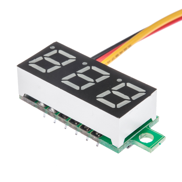 1pcs mini 0 28 3 wires digital voltmeter blue led display dc 0 100v rh aliexpress com Amp Meter Wiring Diagram AC Voltmeter Wiring -Diagram