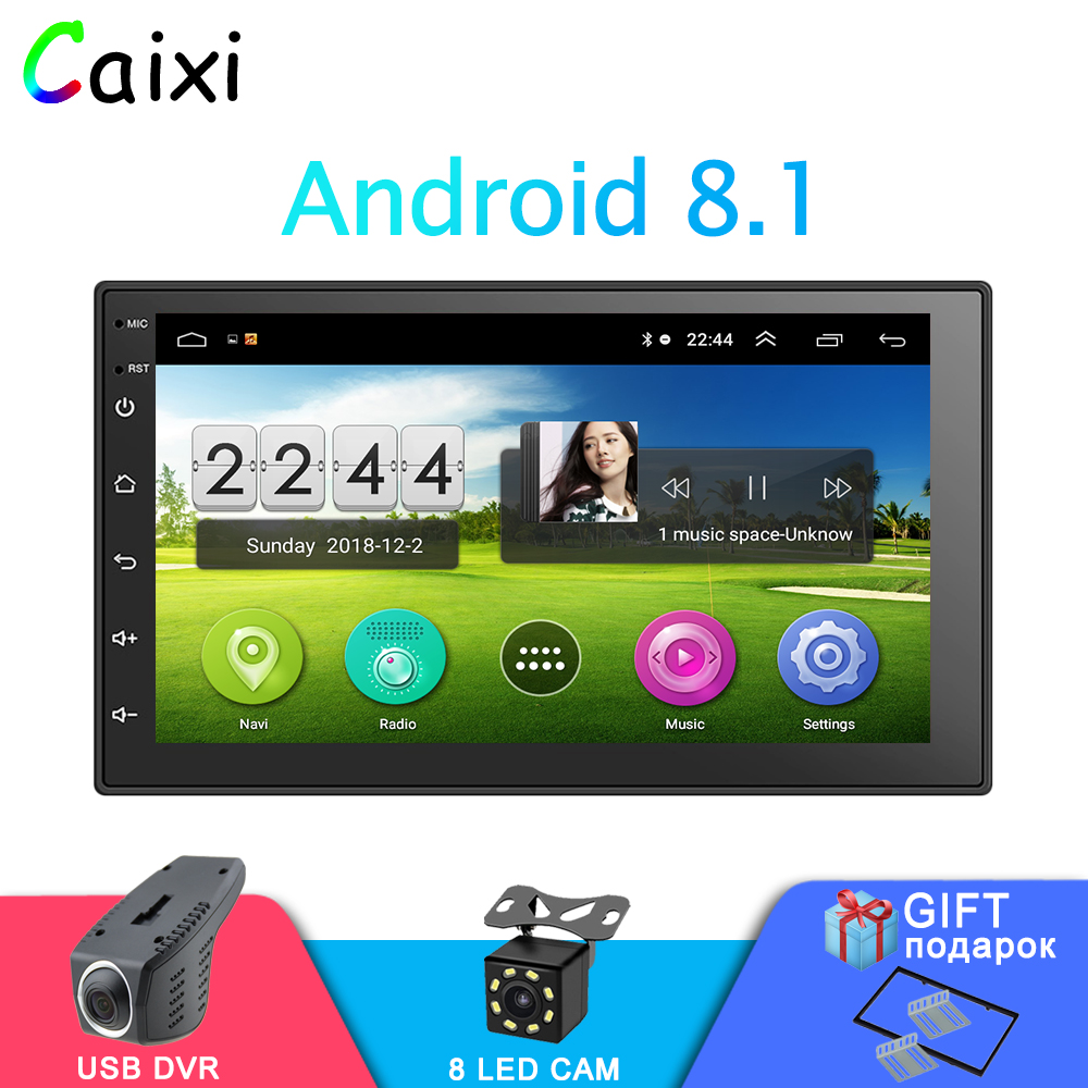 2Din 7'' Android 8.1 Car Radio  Multimedia Player Touch Screen GPS Navigation Bluetooth FM WIFI DVR Auto Audio Player For Nissan