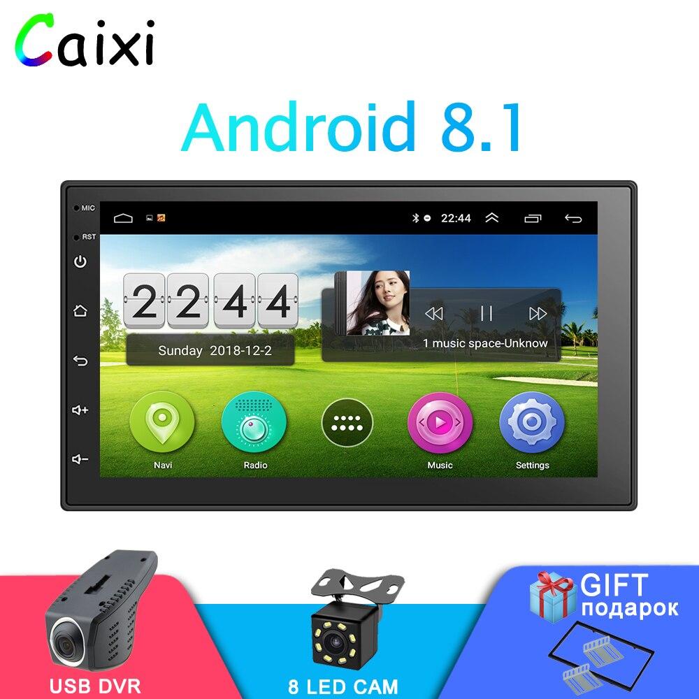 2 Din 7 ''autoradio Android 8.1 lecteur multimédia écran tactile GPS Navigation Bluetooth FM WIFI DVR lecteur audio automatique pour Nissan