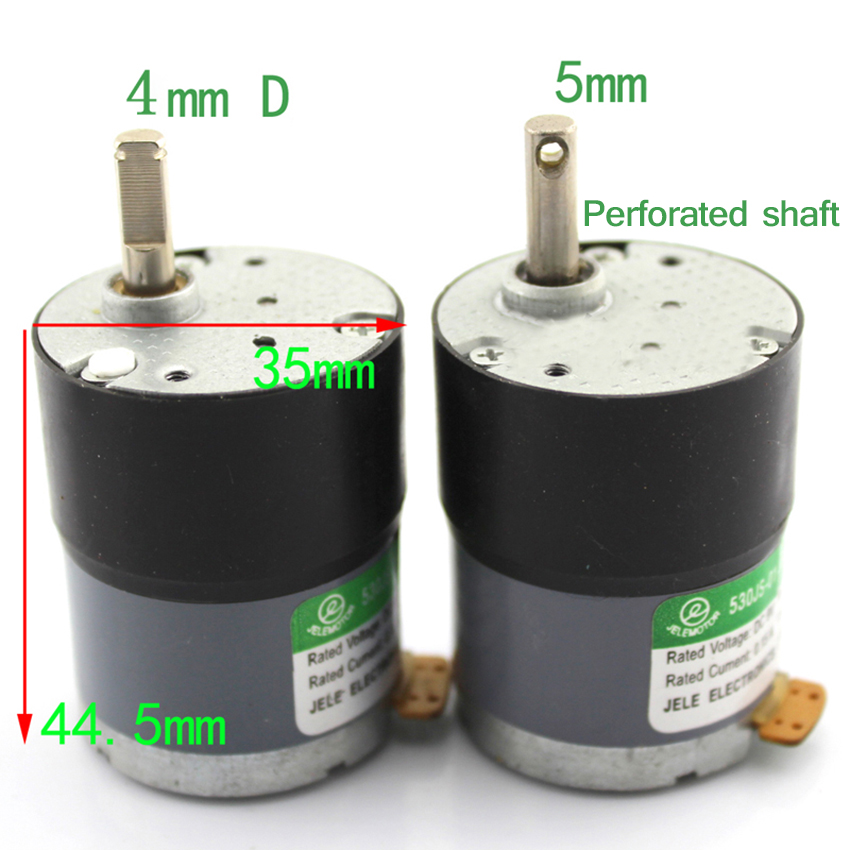 NEW 530 gearmotor Miniature slowdown motor With hole shaft Robot accessories DIY