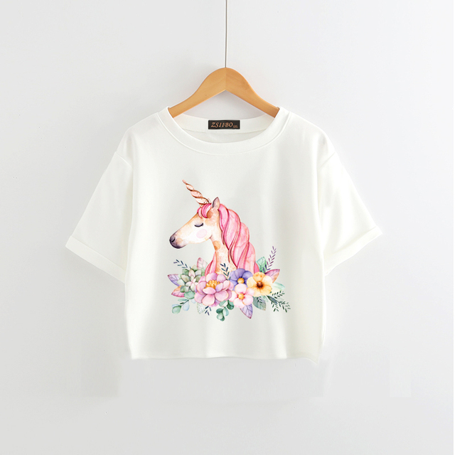 Women's Unicorn Tops Casual Short Sleeve Soft T Shirts