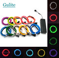 Chasing EL Wire Flexible LED Neon Light strip Tube Rope for Car Party Clothing Wedding  Battery case Powered 3 mode controller